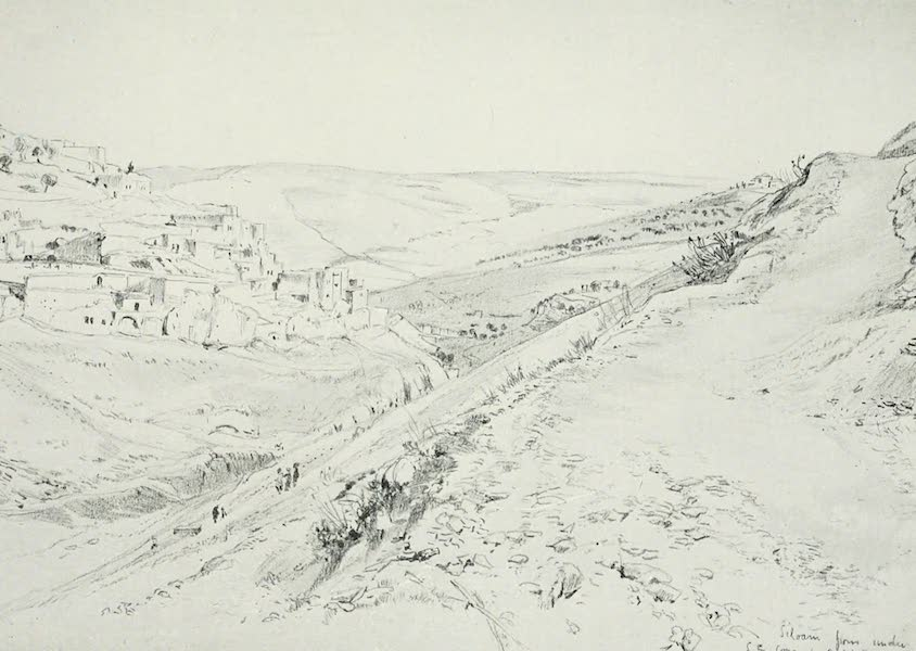 The Holy Land, Painted and Described - Siloam, from under the S.E. Corner of the Wall of the Temple Area (1902)