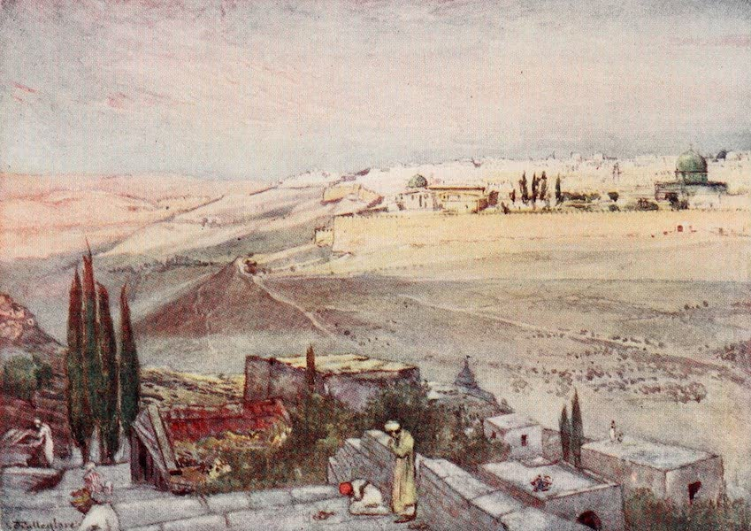 The Holy Land, Painted and Described - Sunrise from the Mount of Olives (1902)