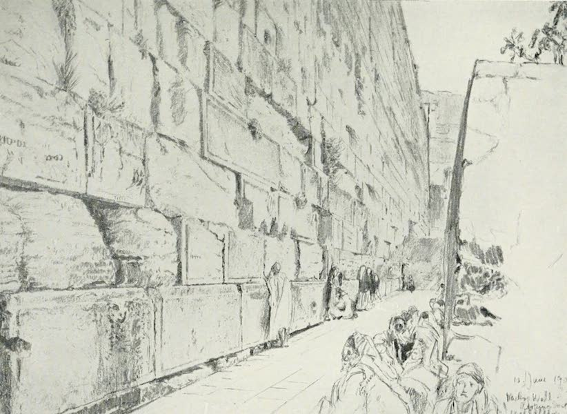 The Holy Land, Painted and Described - The Wall of the Wailing - Place (1902)