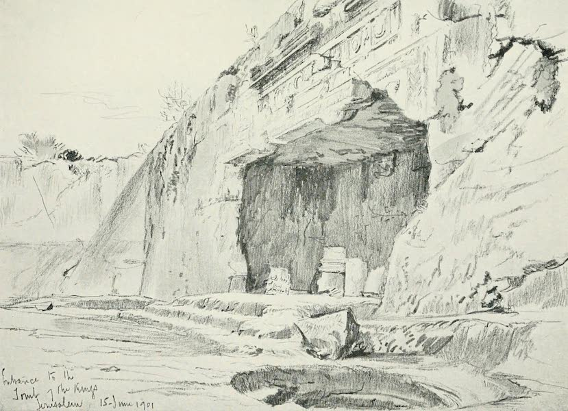 The Holy Land, Painted and Described - The so - called Tombs of the Kings (1902)