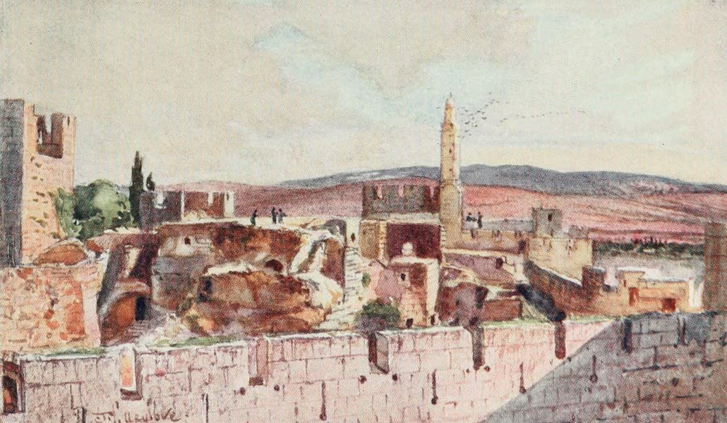 The Holy Land, Painted and Described - Portion of the Citadel of Jerusalem (1902)