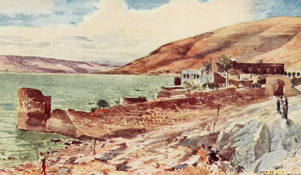 The Holy Land, Painted and Described - The Lake of Galilee, looking South from Tiberias (1902)