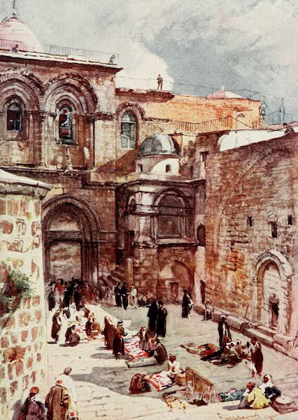 The Holy Land, Painted and Described - The Fore - Court of the Church of the Holy Sepulchre (1902)