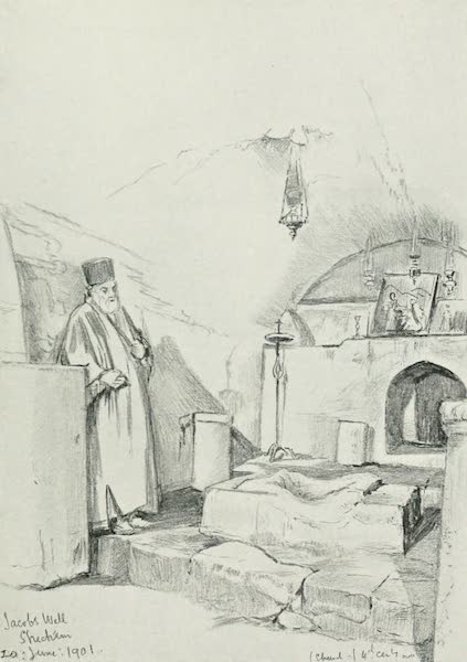 The Holy Land, Painted and Described - Jacob's Well at Shechem (Nablus) (1902)