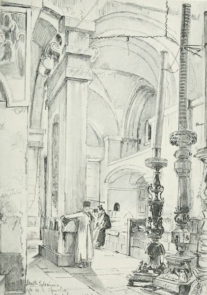 The Holy Land, Painted and Described - The Vestibule of the Church of the Holy Sepulchre (1902)