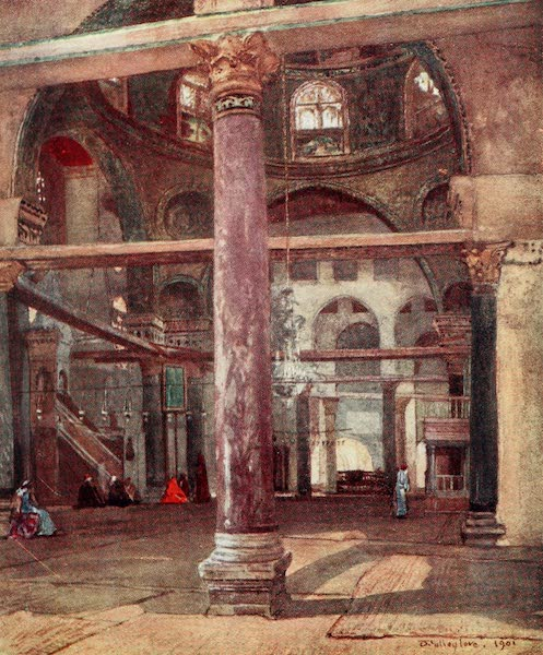 The Holy Land, Painted and Described - Interior of the Mosque of El Aksa, from the S.E. (1902)