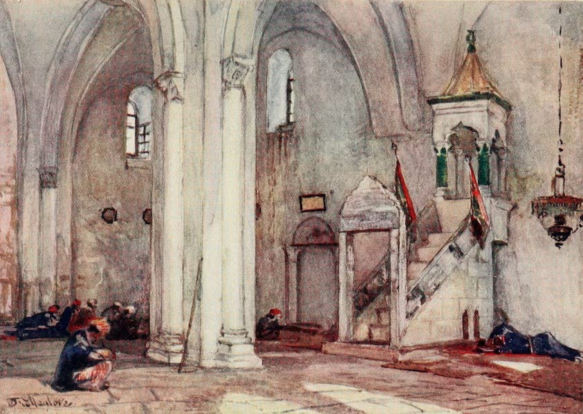 The Holy Land, Painted and Described - Interior of Mosque at Samaria (1902)