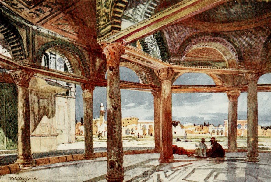 The Holy Land, Painted and Described - Interior of the Dome of the Chain, looking North (1902)