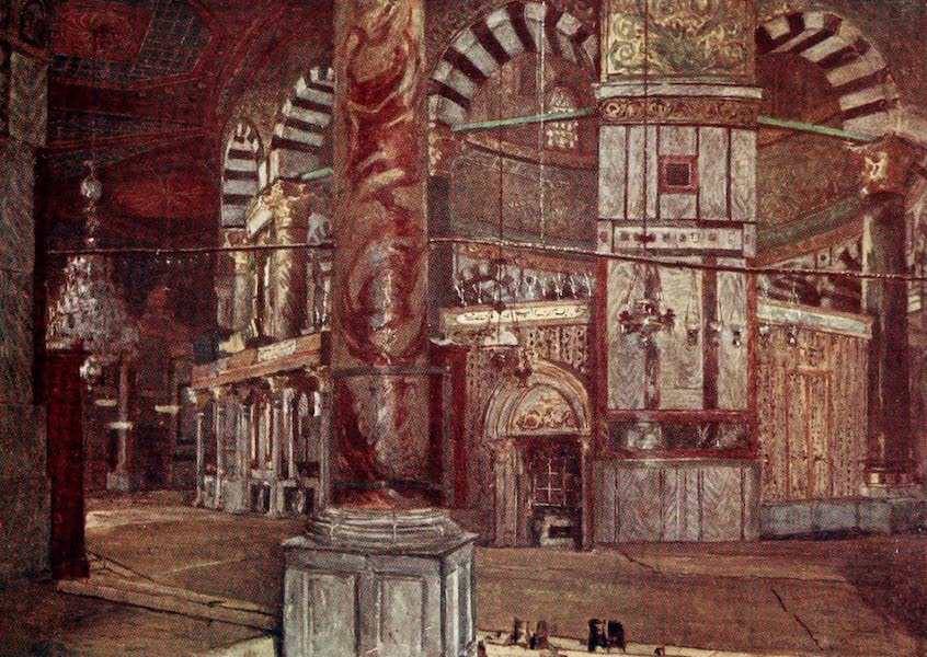 The Holy Land, Painted and Described - Interior of the Dome of the Rock (Mosque of Omar), from the S.E. (1902)