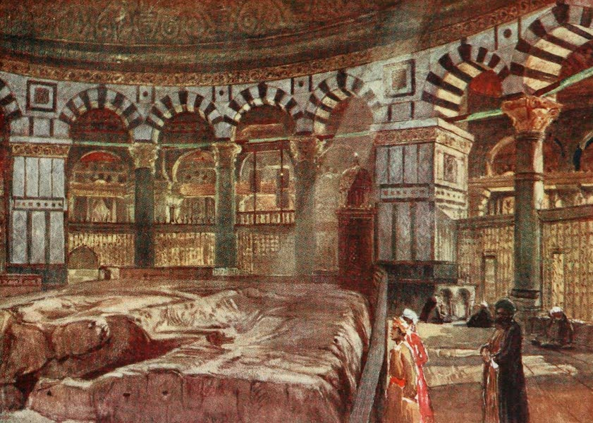 The Holy Land, Painted and Described - The Holy Rock beneath the Dome of the Mosque of Omar (1902)