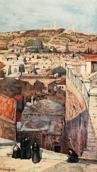 The Holy Land, Painted and Described - The Mount of Olives, from a Housetop on Mount Zion (1902)