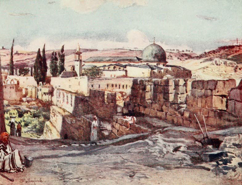 The Holy Land, Painted and Described - The Mosque of El Aksa, from inside the South Wall of Jerusalem (1902)