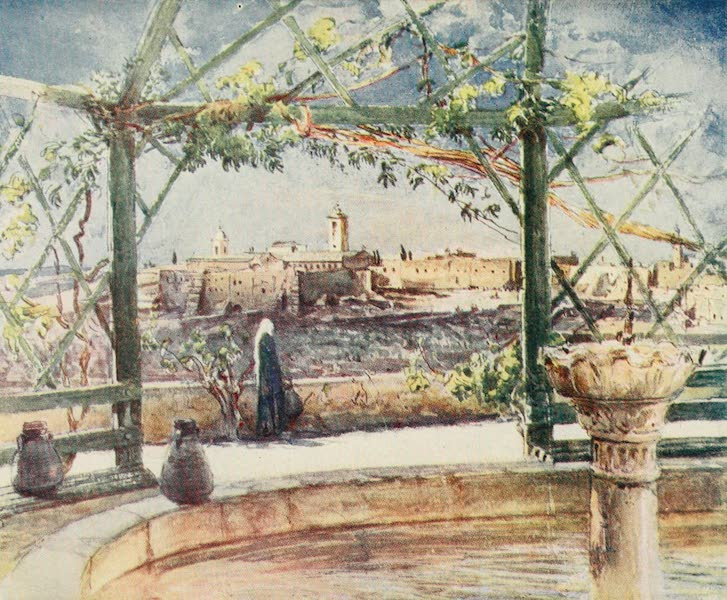 The Holy Land, Painted and Described - The Church of the Nativity at Bethlehem, from a Garden on the opposite Hill (1902)