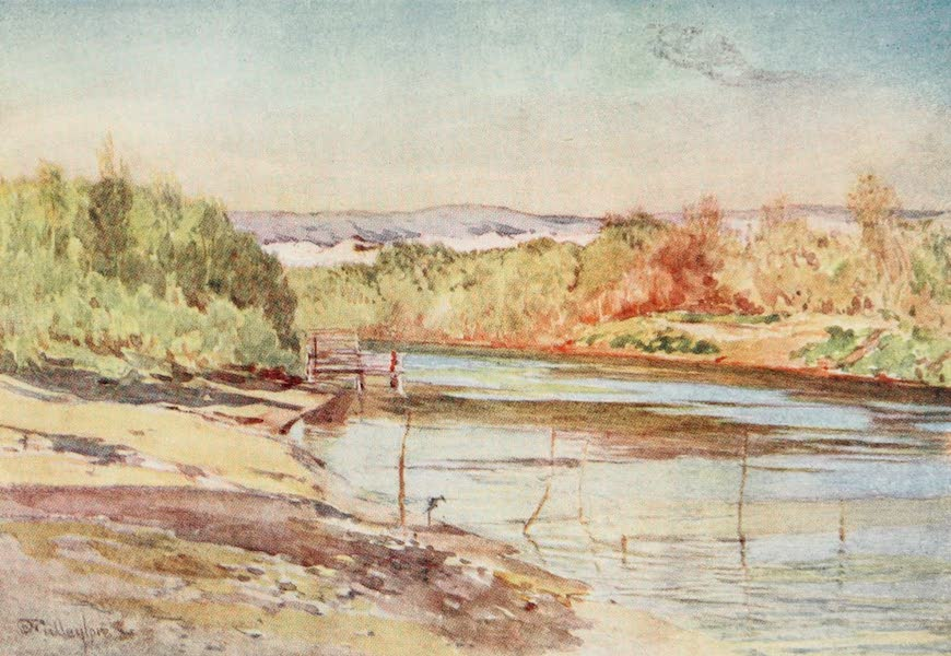 The Holy Land, Painted and Described - The Ford of the Jordan, near Jericho (1902)