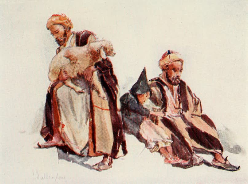 The Holy Land, Painted and Described - Syrian Shepherds and Shepherd Boy (1902)