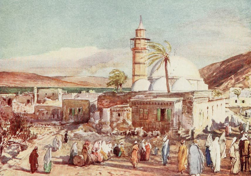 The Holy Land, Painted and Described - The Mosque at Tiberias and the Lake of Galilee (1902)
