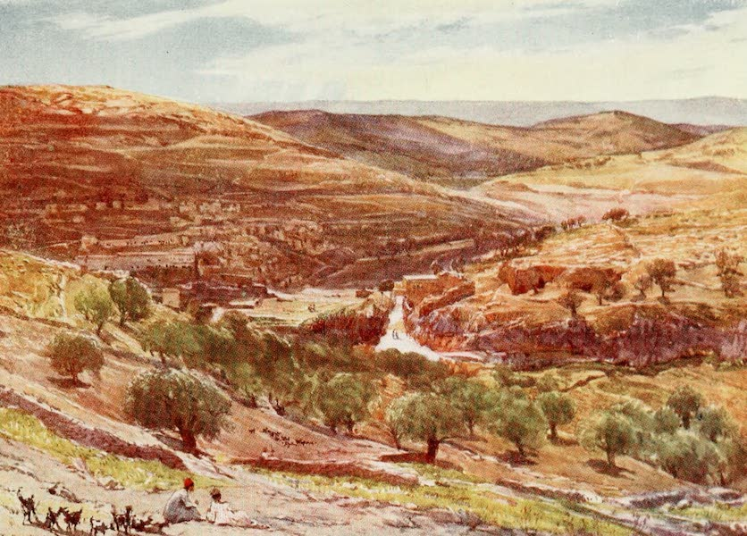 The Holy Land, Painted and Described - Valley of Hinnom, with Hill of Offence (1902)