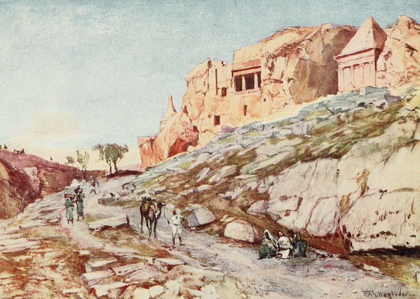 The Holy Land, Painted and Described - The Rock - cut Tombs of the Valley of Jehoshaphat (1902)