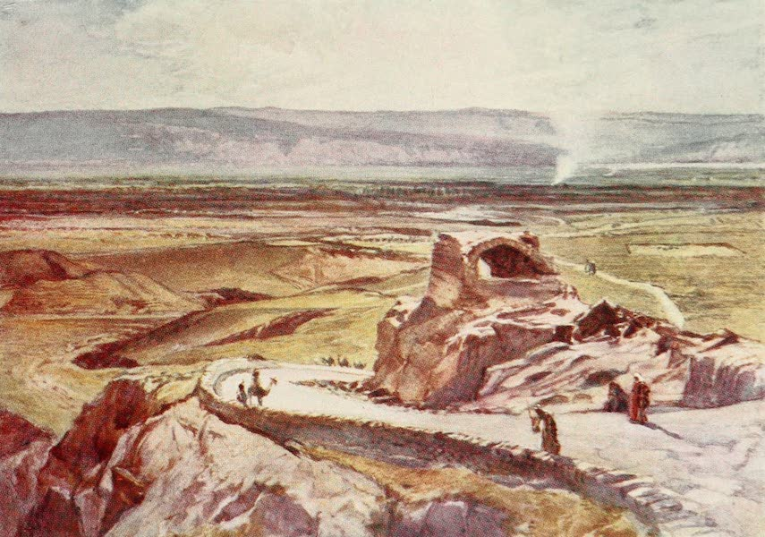 The Holy Land, Painted and Described - The Plain of Jericho, looking towards the Mountains of Moab (1902)