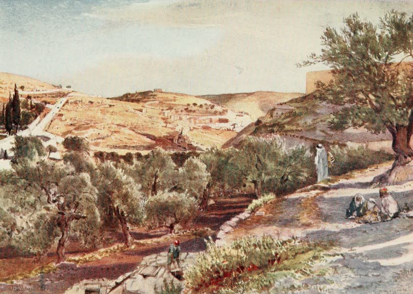 The Holy Land, Painted and Described - The Upper Valley of the Kidron, looking South (1902)