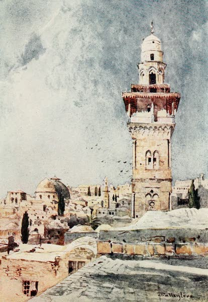 The Holy Land, Painted and Described - A Minaret in the N.W. Corner of the Temple Area (1902)