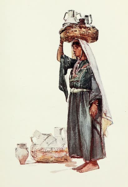 The Holy Land, Painted and Described - Syrian Peasant with Milk - Vessels (1902)