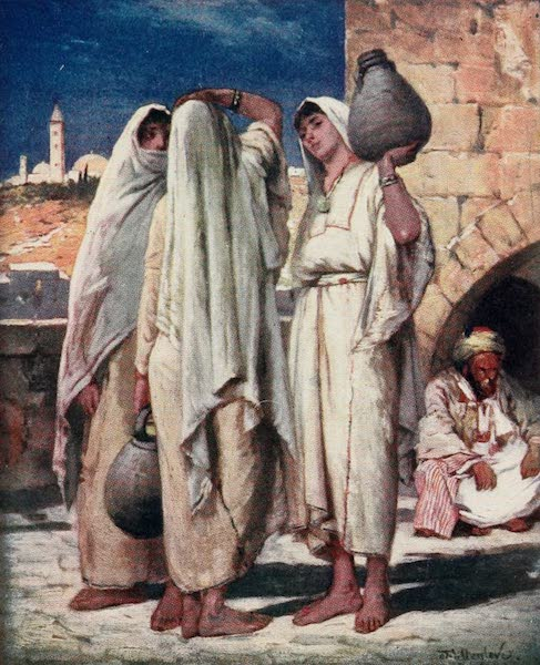The Holy Land, Painted and Described - Syrian Women at a Fountain (1902)
