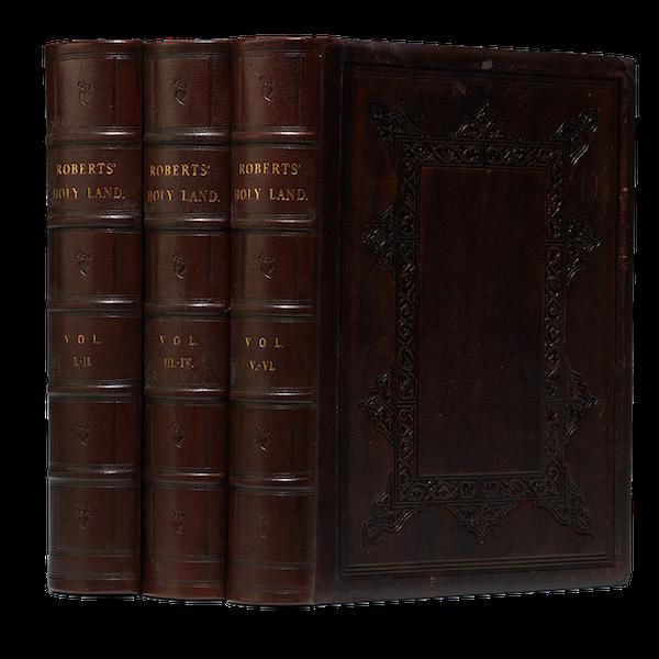 The Holy Land : Syria, Idumea, Arabia, Egypt & Nubia Vols. 1 & 2 - Book Display (1855)