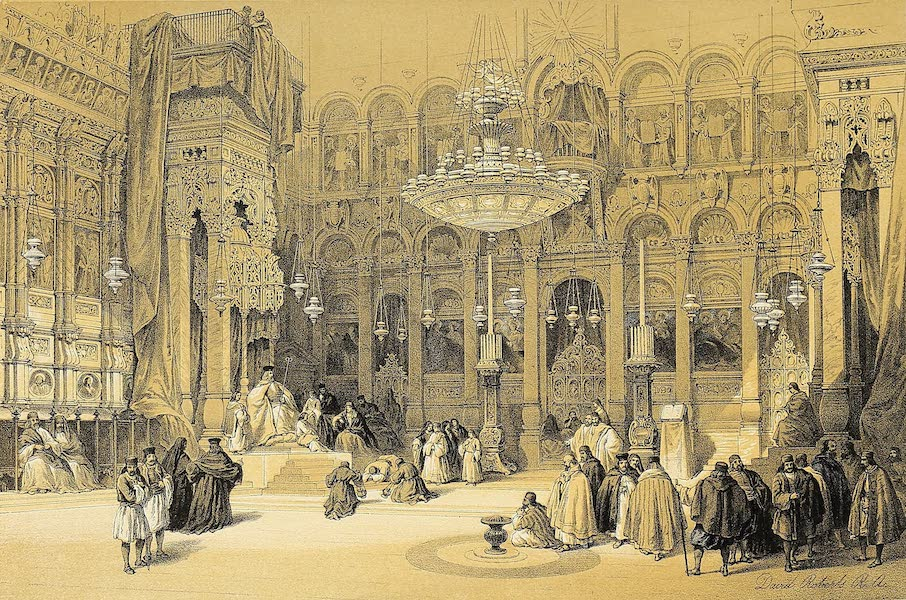 The Holy Land : Syria, Idumea, Arabia, Egypt & Nubia Vols. 1 & 2 - The Greek Chapel of the Holy Sepulchre (1855)