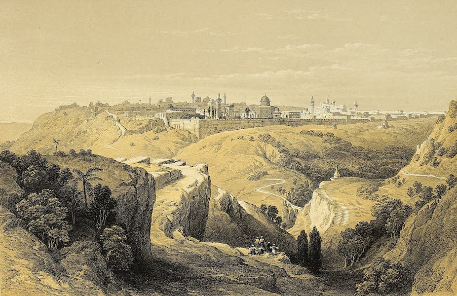 The Holy Land : Syria, Idumea, Arabia, Egypt & Nubia Vols. 1 & 2 - Jerusalem from the Road leading to Bethany (1855)