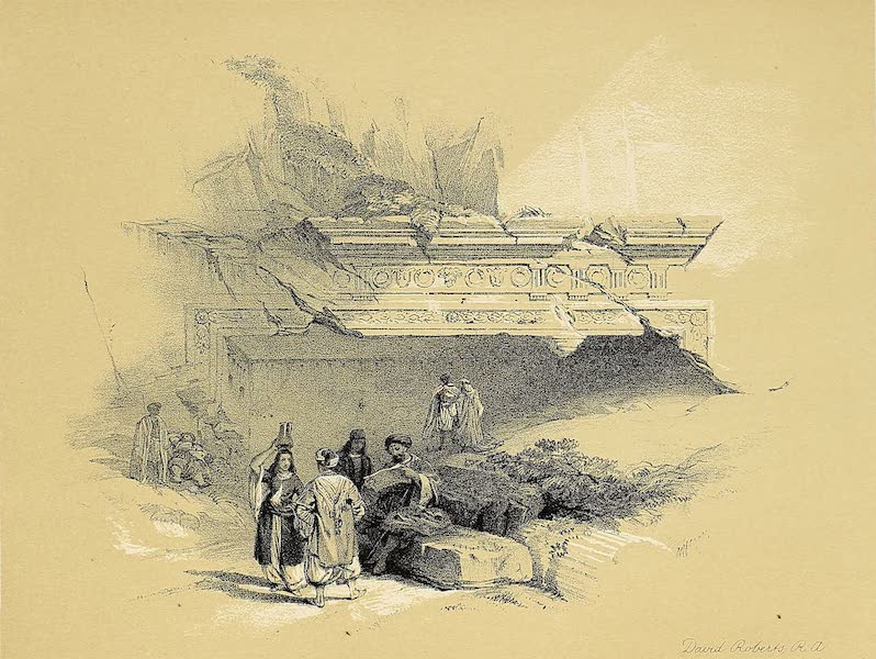 The Holy Land : Syria, Idumea, Arabia, Egypt & Nubia Vols. 1 & 2 - Entrance to the Tomb of the Kings (1855)