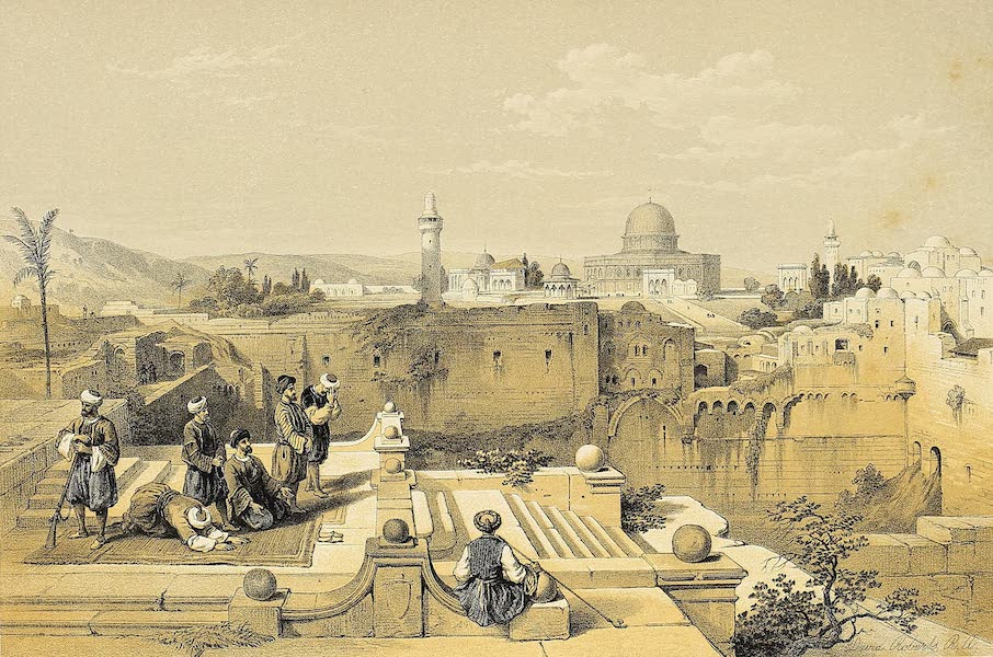 The Holy Land : Syria, Idumea, Arabia, Egypt & Nubia Vols. 1 & 2 - The Mosque of Omar, on the Ancient Site of the Temple (1855)