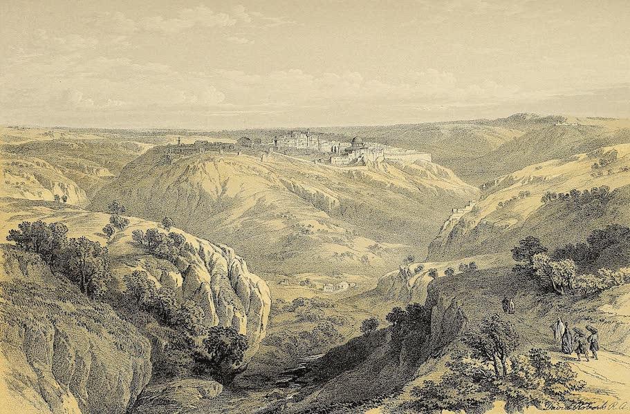The Holy Land : Syria, Idumea, Arabia, Egypt & Nubia Vols. 1 & 2 - Jerusalem from the South (1855)