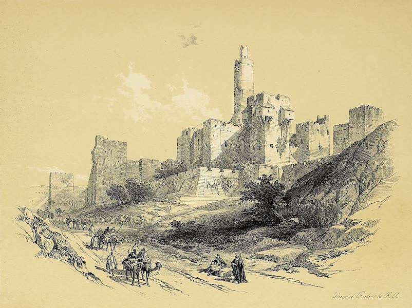 The Holy Land : Syria, Idumea, Arabia, Egypt & Nubia Vols. 1 & 2 - The Tower of David (1855)