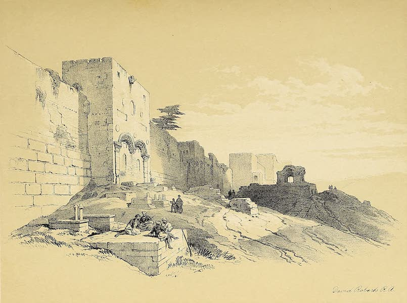 The Holy Land : Syria, Idumea, Arabia, Egypt & Nubia Vols. 1 & 2 - Golden Age of the Temple, showing the Ancient Walls (1855)