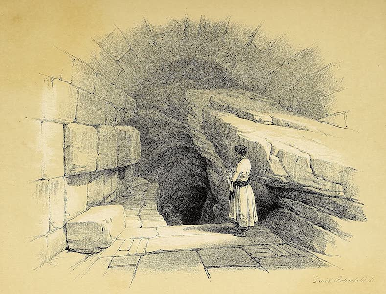 The Holy Land : Syria, Idumea, Arabia, Egypt & Nubia Vols. 1 & 2 - Upper Fountain of Siloam - Valley of Jehoshaphat (1855)
