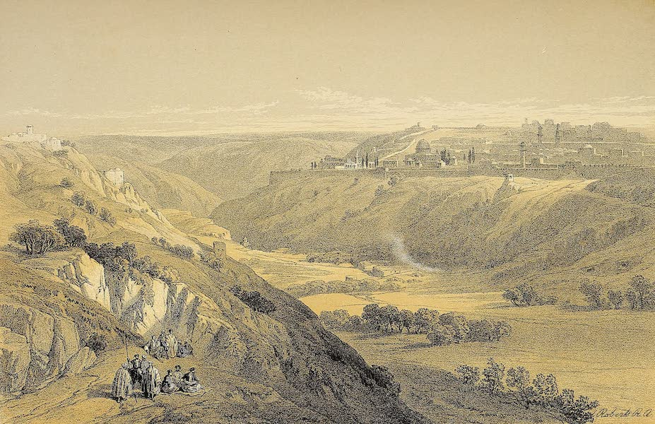 The Holy Land : Syria, Idumea, Arabia, Egypt & Nubia Vols. 1 & 2 - Jerusalem from the Mount of Olives (1855)