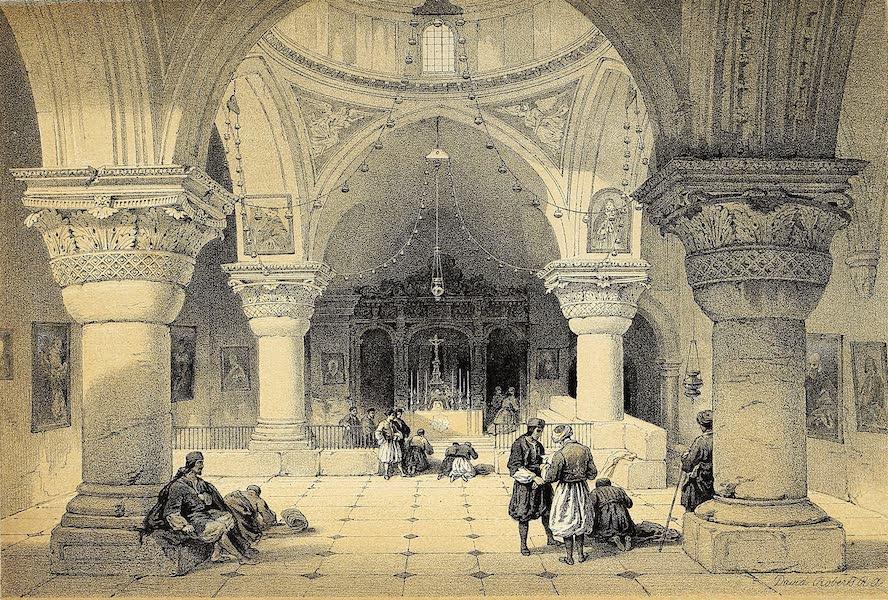 The Holy Land : Syria, Idumea, Arabia, Egypt & Nubia Vols. 1 & 2 - Chapel of St. Helena - Crypt of the Holy Sepulchre (1855)