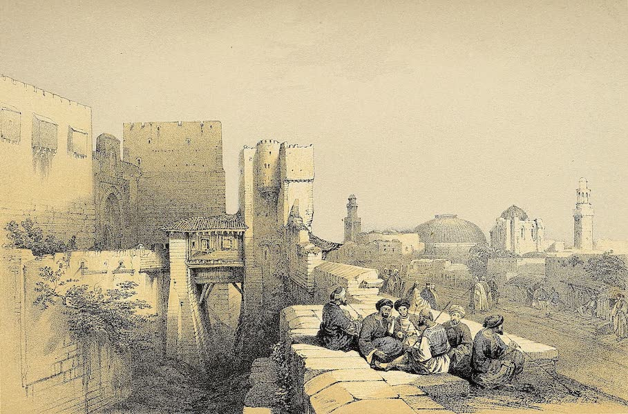 The Holy Land : Syria, Idumea, Arabia, Egypt & Nubia Vols. 1 & 2 - The Entrance to the Citadel of Jerusalem (1855)