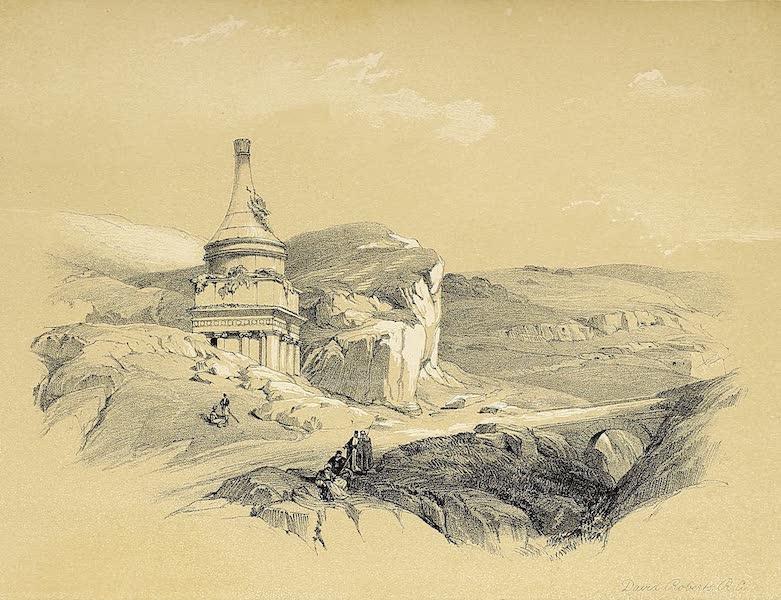 The Holy Land : Syria, Idumea, Arabia, Egypt & Nubia Vols. 1 & 2 - Absalom's Pillar - Valley of Jehoshaphat (1855)