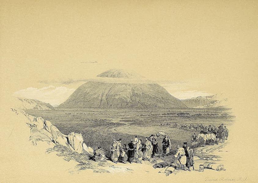 The Holy Land : Syria, Idumea, Arabia, Egypt & Nubia Vols. 1 & 2 - Mount Tabor, from the Plain of Esdraelon (1855)
