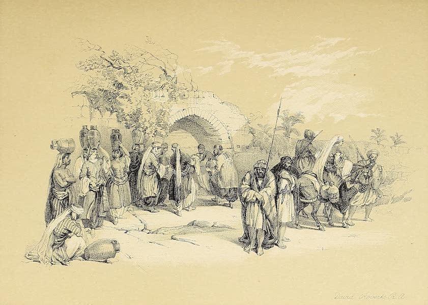 The Holy Land : Syria, Idumea, Arabia, Egypt & Nubia Vols. 1 & 2 - Fountain of the Virgin, Nazareth  (1855)
