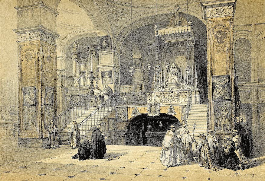 The Holy Land : Syria, Idumea, Arabia, Egypt & Nubia Vols. 1 & 2 - Church of the Annunciation, Nazareth [II] (1855)