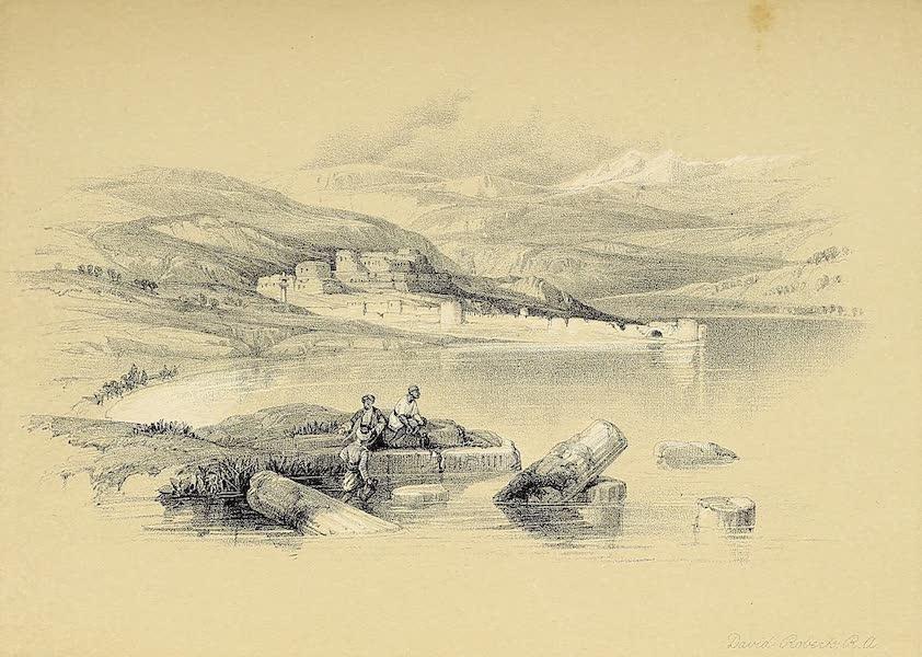 The Holy Land : Syria, Idumea, Arabia, Egypt & Nubia Vols. 1 & 2 - Town of Tiberias, looking towards Lebanon (1855)