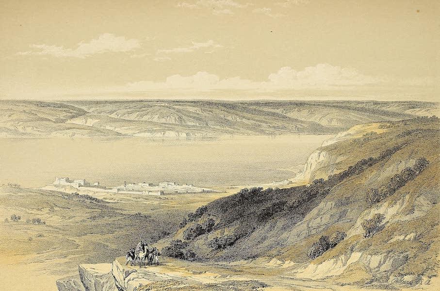 The Holy Land : Syria, Idumea, Arabia, Egypt & Nubia Vols. 1 & 2 - The Sea of Tiberias, looking towards Bashan (1855)