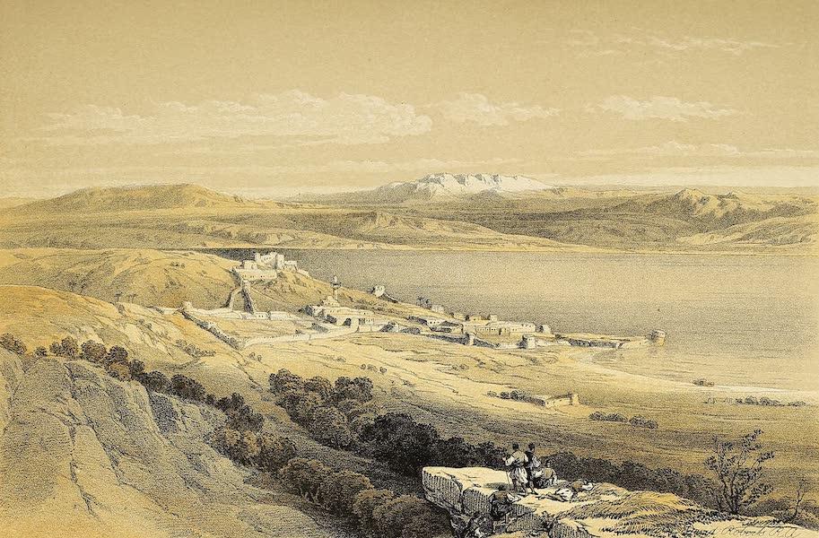 The Holy Land : Syria, Idumea, Arabia, Egypt & Nubia Vols. 1 & 2 - Tiberias, looking towards Hermon (1855)