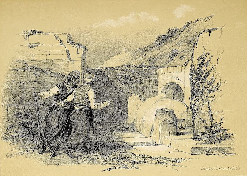 The Holy Land : Syria, Idumea, Arabia, Egypt & Nubia Vols. 1 & 2 - The Tomb of Joseph at Shechem (1855)