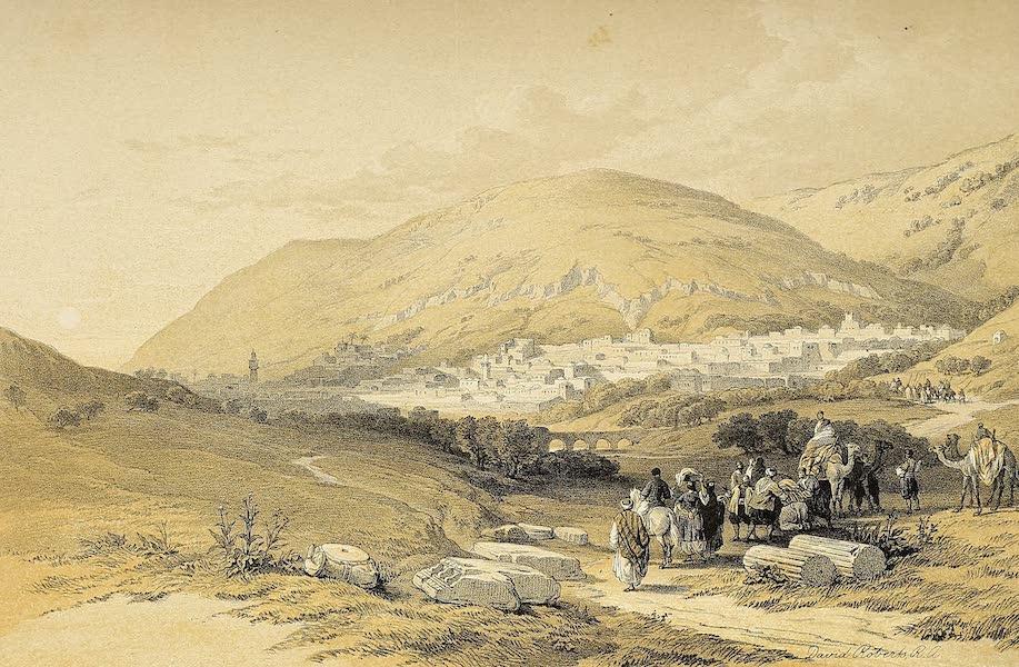 The Holy Land : Syria, Idumea, Arabia, Egypt & Nubia Vols. 1 & 2 - Nablous, Ancient Shechem (1855)
