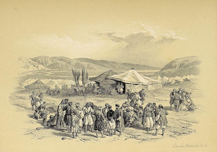 The Holy Land : Syria, Idumea, Arabia, Egypt & Nubia Vols. 1 & 2 - Encampment of the Pilgrims at Jericho (1855)