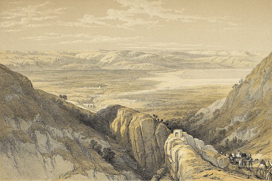 The Holy Land : Syria, Idumea, Arabia, Egypt & Nubia Vols. 1 & 2 - Descent Upon the Valley of the Jordan (1855)